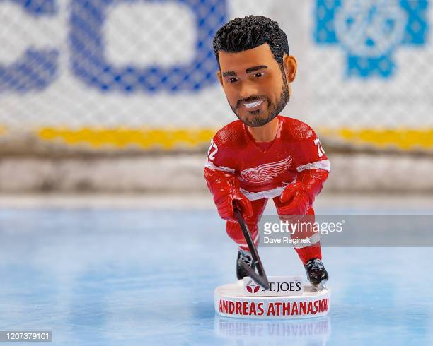 The first 10000 fans at tonightu2019s game will receive a Andreas Athanasiou of the Detroit Red Wings bobble head prior to an NHL game against the...
