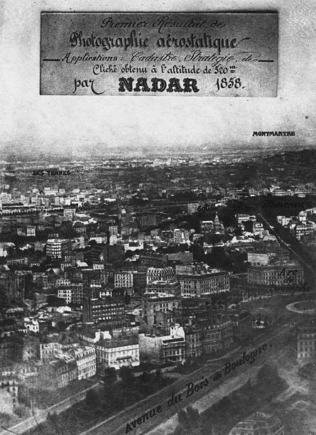 The first aerial photograph showing the Place de l'...