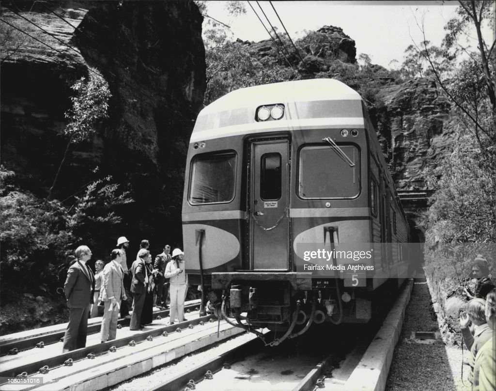 The first air-conditioned double-decked train to Lithgow on the newly finished Zig Zag tunnel complex today.The Chief Public Transport Commissioner, Mr. Alan Reiher today attended a special function to commemorate the completion of the track replacement i : News Photo