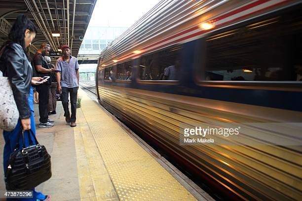 The first Amtrak northbound service departs Trenton its first stop after leaving 30th Street Station in Philadelphia with a 553am departing train the...