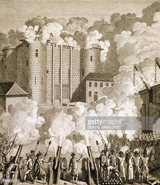 The first attack of the Bastille July 14 1789 French Revolution France 18th century