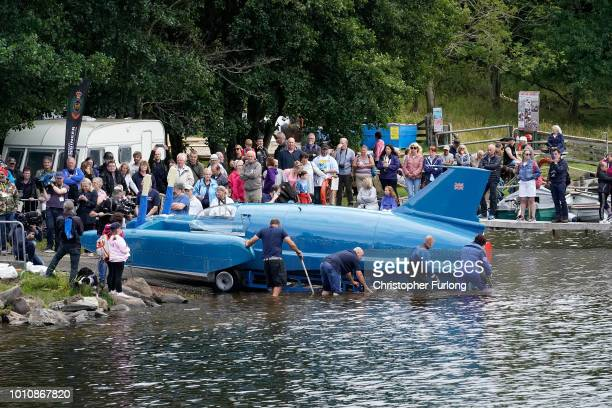 The first attempt at refloating Donald Campbell's iconic Bluebird takes place on the waters of Loch Fad as an underwater obstacle prevents it's...