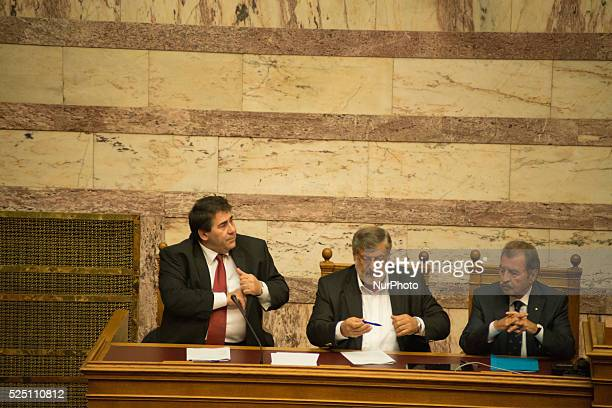 The first ballot for the election of a new President of the Greek Republic on December 17 2014 in Athens The candidate of the Government got 160 out...