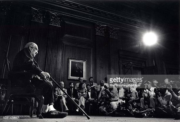 The first black American Thurgood Marshall appointed to the Supreme Court retires at age 82 in Washington DC on June 27 1991