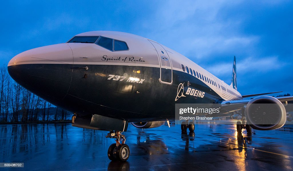 Boeing Shows Media Its First 737 MAX Airliner : News Photo