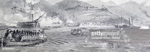 The first capture of Chusan by British forces in China occurred on 5–6 July 1840 during the First Opium War The British captured Chusan the largest...