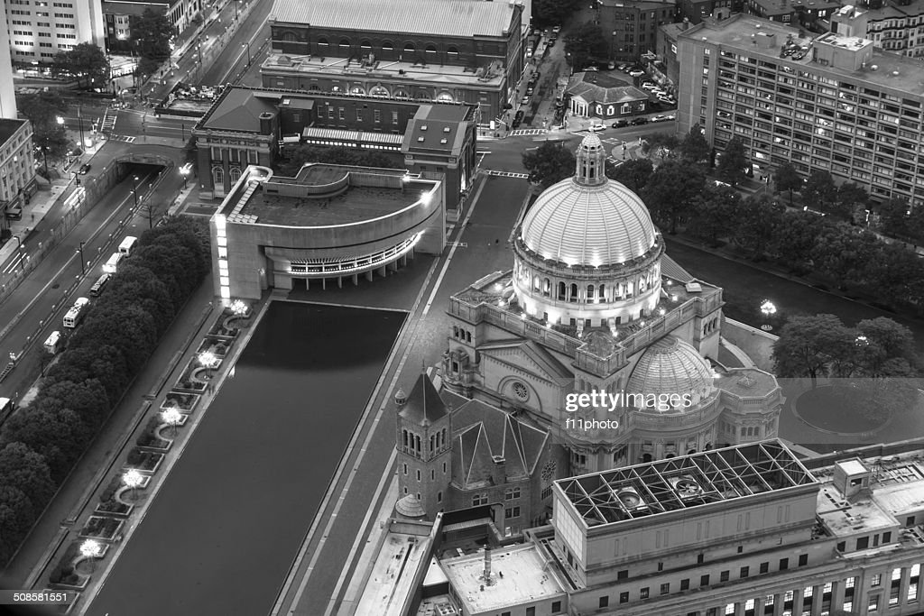 The First Church of Christ Scientist in Christian Science Plaza : Stock Photo
