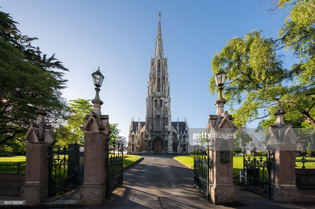 The First Church of Otago in Dunedin, New Zealand. : Stock-Foto