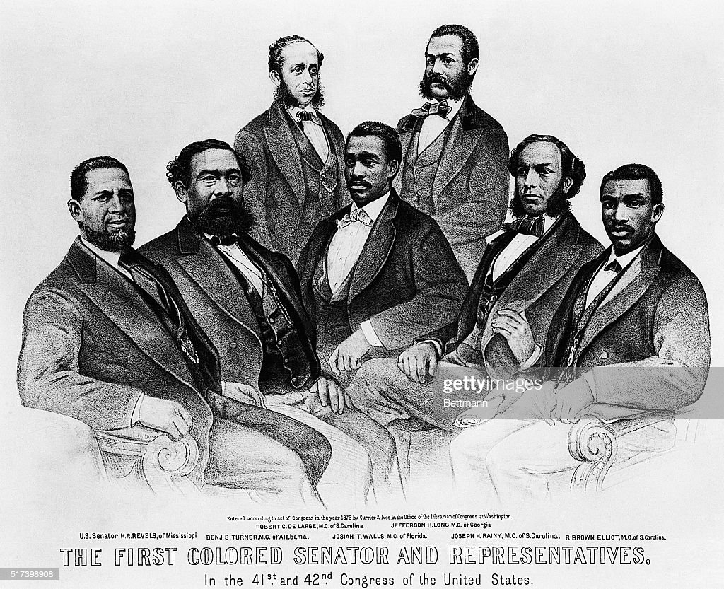 First Black Senator & Representatives : News Photo