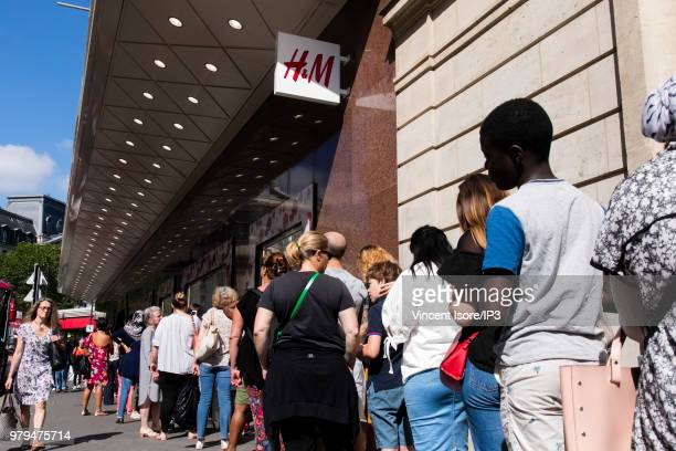 Opening of the Swedish brand HM La Fayette flagship store on June 20 2018 in Paris France This sales space of 5000m2 spread over six floors becomes...