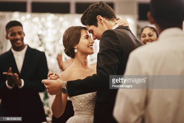 the first dance was my favorite part of the evening - newlywed stock pictures, royalty-free photos & images