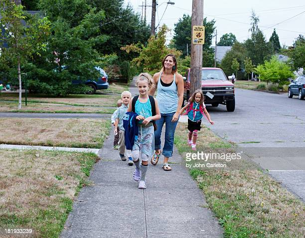 The 'First Day of School' walk