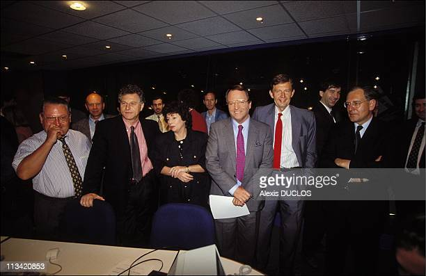 The First Day Of TF1 channel At Boulogne On June 1st 1992