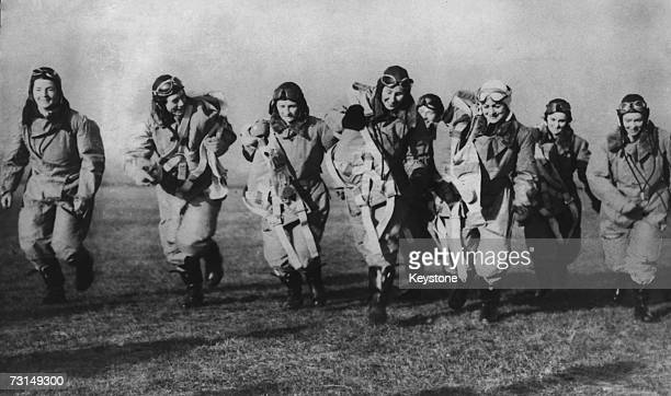 The first delivery by the female pilots of the British ATA or Air Transport Auxiliary during World War II 10th January 1940