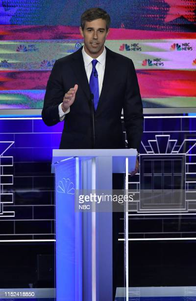 The First Democratic Debate -- Pictured: Beto O'Rourke at The Knight Concert Hall, Miami Florida on Wednesday, June 26,, 2019--
