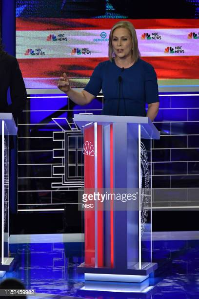 The First Democratic Debate -- Pictured: Kirsten Gillibrand at The Knight Concert Hall, Miami Florida on Thursday, June 27, 2019--