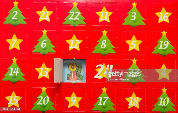 ILLUSTRATION The first door of an Advent calendar has been opened inSieversdorf Germany 24 November 2015 Photo PATRICKPLEUL/dpa | usage worldwide