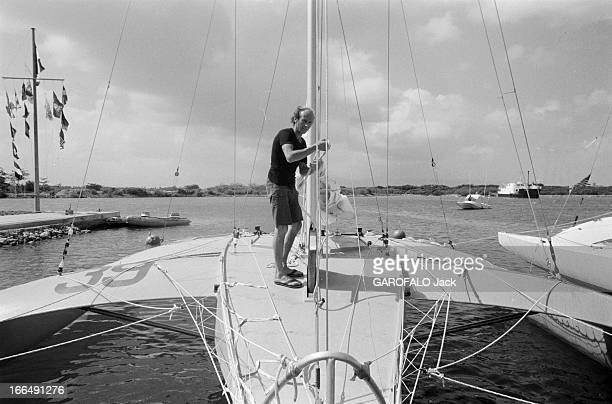 The First Edition Of The Route Du Rum En Novembre 1978 dans le cadre de première édition de la Route du Rhum course transatlantique en solitaire sans...