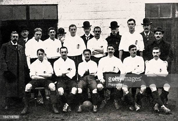The first England Football Association team to play representative matches against Continental opposition pictured during their tour of Germany and...