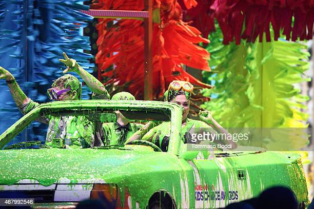 'The First Ever Slime Car Wash' onstage during the Nickelodeon's 28th Annual Kids' Choice Awards held at The Forum on March 28 2015 in Inglewood...