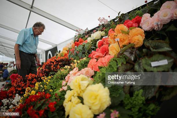 The first exhibitors arrive to prepare their floral displays for this year's Southport Flower Show on August 14, 2013 in Southport, England. The...