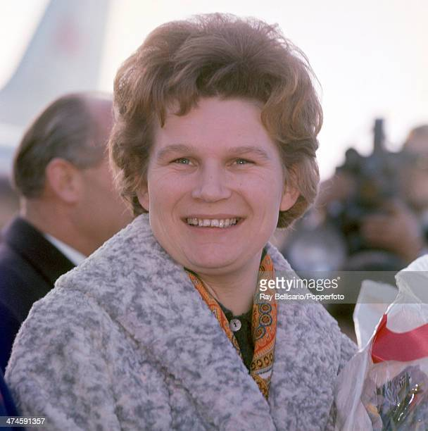 The first female astronaut Valentina Tereshkova of Russia in London on 4th February 1964