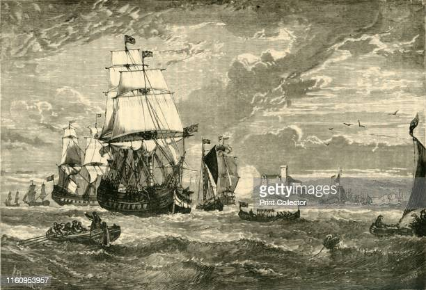 The First Fleet of the East India Company Leaving Woolwich 1601' The East India Company formed to trade in the Indian Ocean region by Royal Charter...