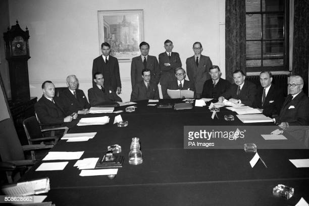 The first full meeting of the newly formed Economic Planning Board with Mr Herbert Morrison in the Chair in place of Sir Edwin Plowden Chief Planning...
