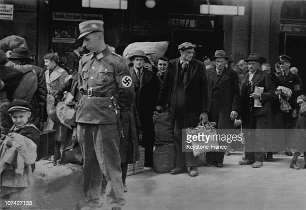 The First German Refugees From Yugoslavia In GrazAustria On April 2Nd 1941