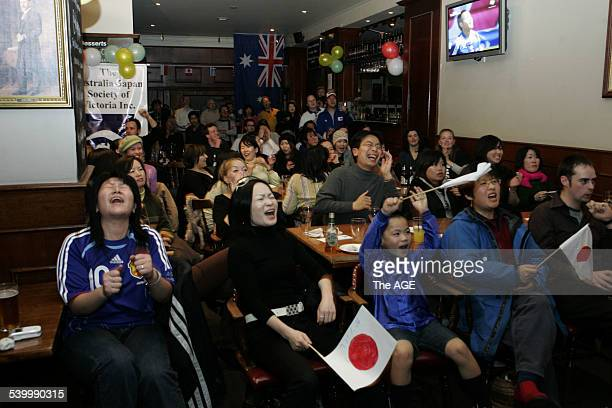 The First goal goes to Japan in the first half of the world cup match against the Socceroos THE AGE NEWS Picture by MICHAEL CLAYTONJONES