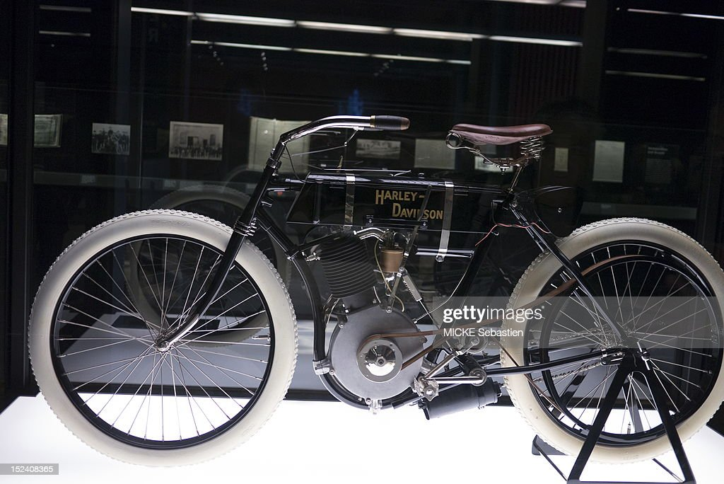 First Harley Davidson: The First Harley Davidson Motorcycle Of 1903 On Display In