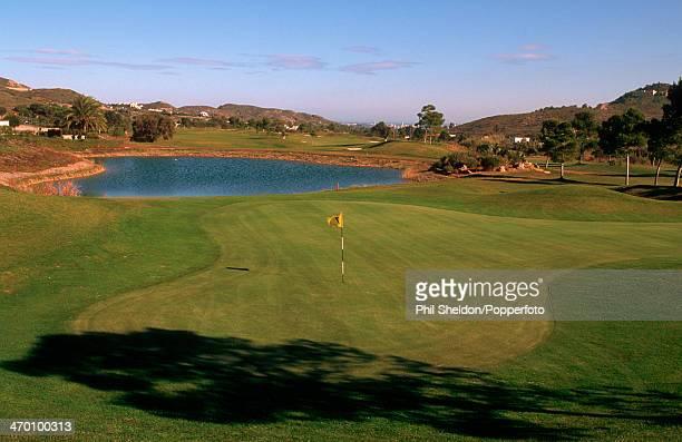 The first hole of the La Manga Golf Club, Spain, circa 2000.