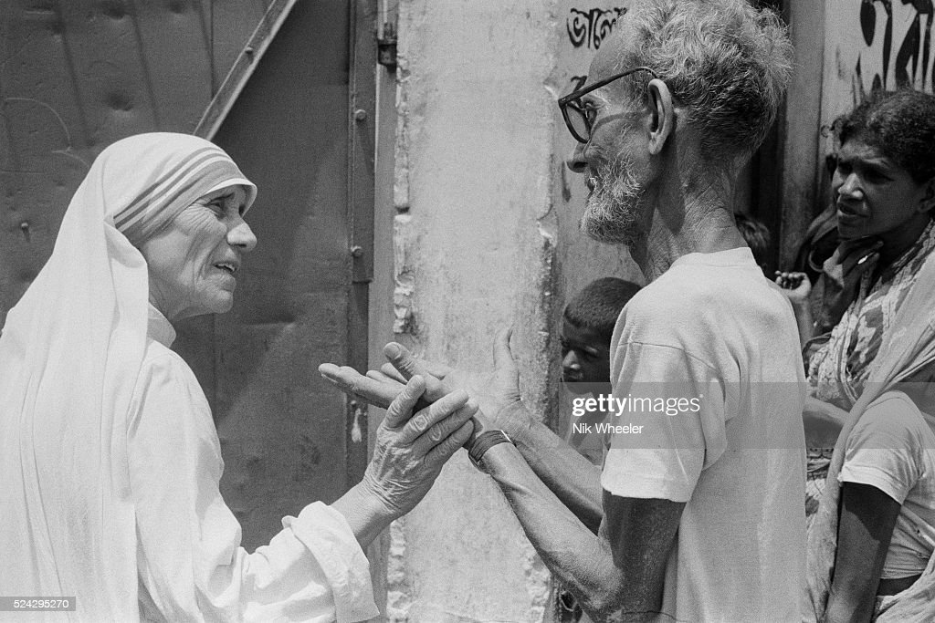 Mother Teresa's Home for the Dying, in Calcutta : News Photo