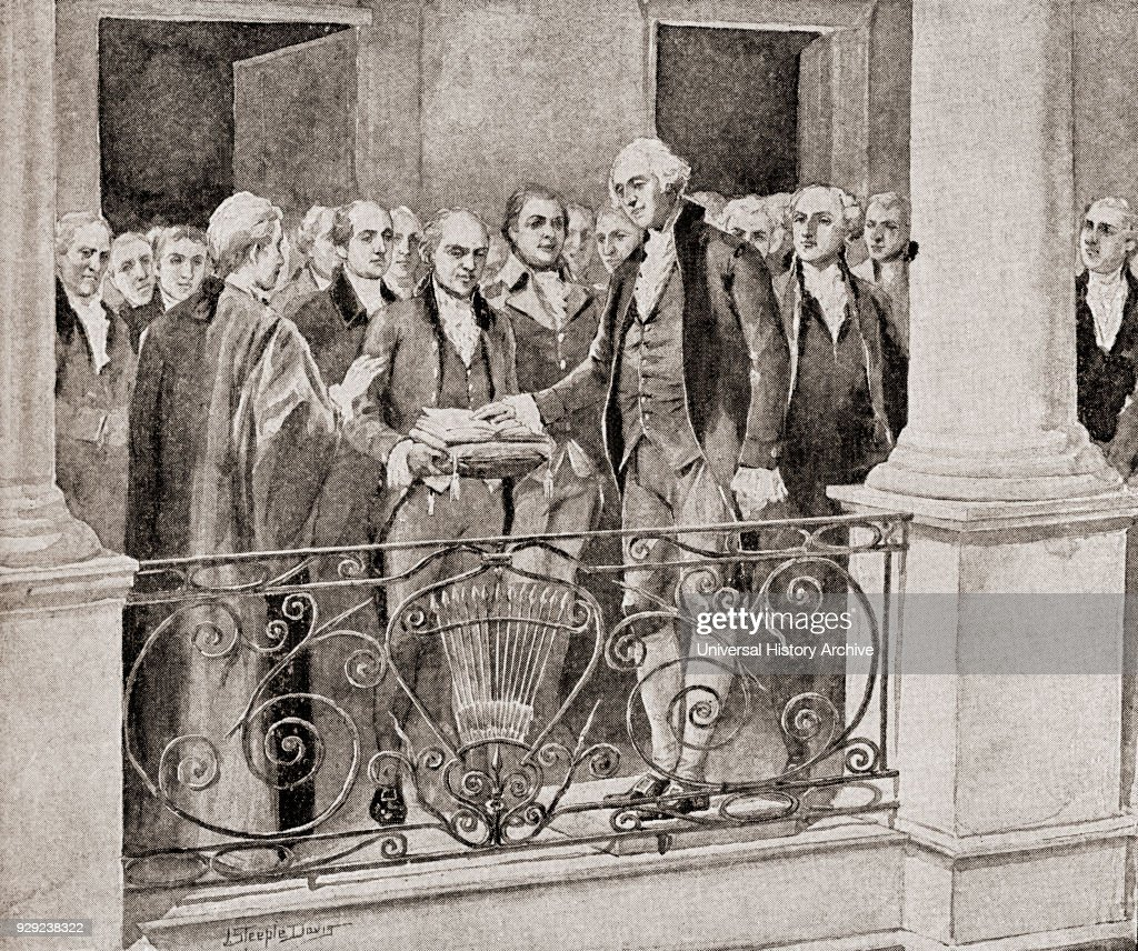 The first inauguration of George Washington, April 30, 1789 : News Photo