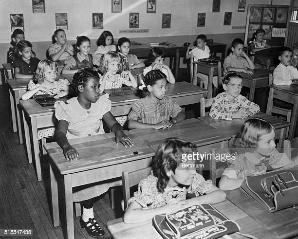 The first integrated class at School 99 in Baltimore