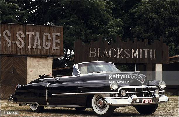 The first international meeting of Cadillac enthusiasts in Castel Sarrasin France on July 25 1991 1951 Cadillac convertible