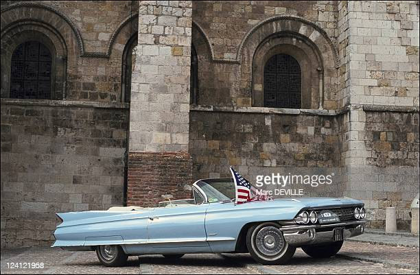 The first international meeting of Cadillac enthusiasts in Castel Sarrasin France on July 25 1991 Cadillac cabriolet type 62