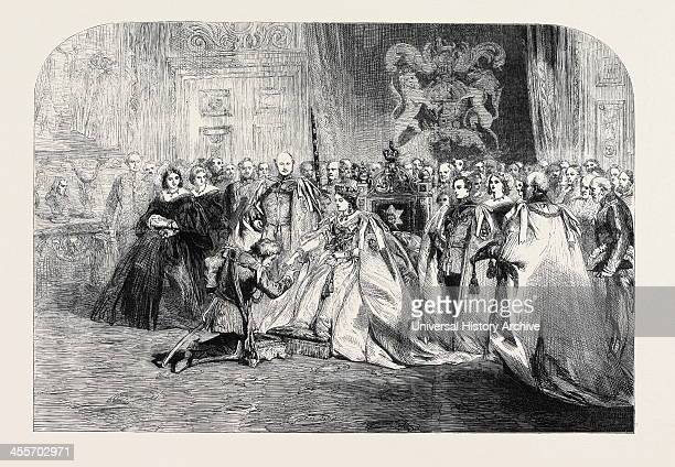 The First Investiture By Her Majesty Of The Most Exalted Order Of The Star Of India In The Throne Room Windsor Castle