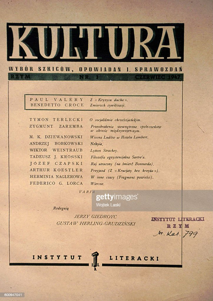 The First Issue Of The Polish Literary Political Journal