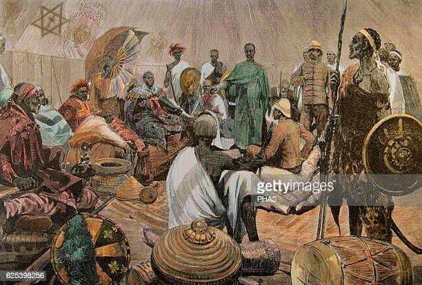The First ItaloEthiopian War Italians in Abyssinia Major Tommaso Salsa and Captain Annibale Anghera before the emperor of Ethiopia Menelik II in...