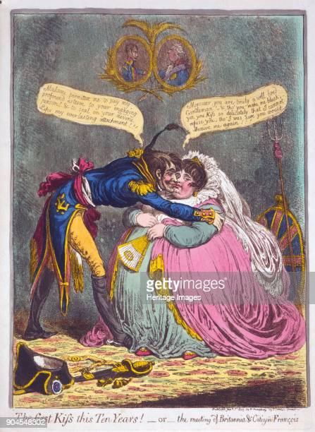 The First Kiss this Ten Years Or the meeting of Britannia Citizen Francois pub 1803