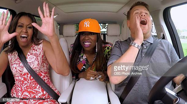 The First Lady Michelle Obama and Missy Elliott join James Corden for Carpool Karaoke on The Late Late Show with James Corden Wednesday July 20th...