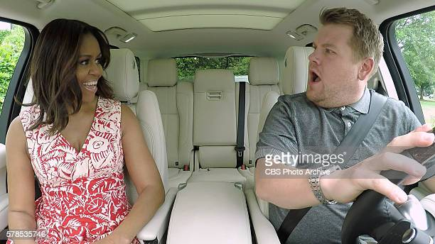 The First Lady Michelle Obama joins James Corden for Carpool Karaoke on The Late Late Show with James Corden Wednesday July 20th 2016 on The CBS...