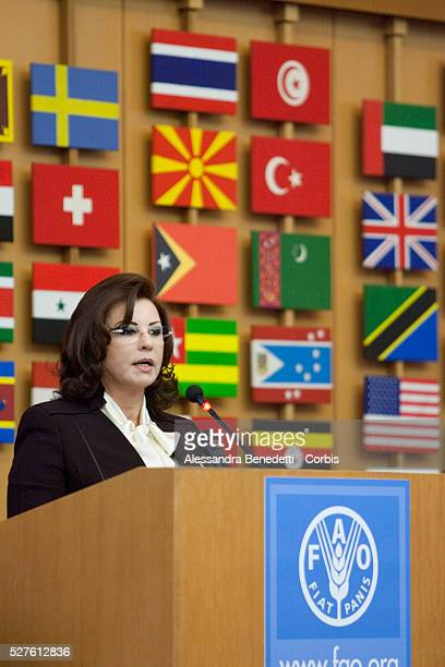 HE the First Lady of Tunisia President of the Arab Women Organization addressing the Second Summit of the NonAligned Movement of First Ladies held in...