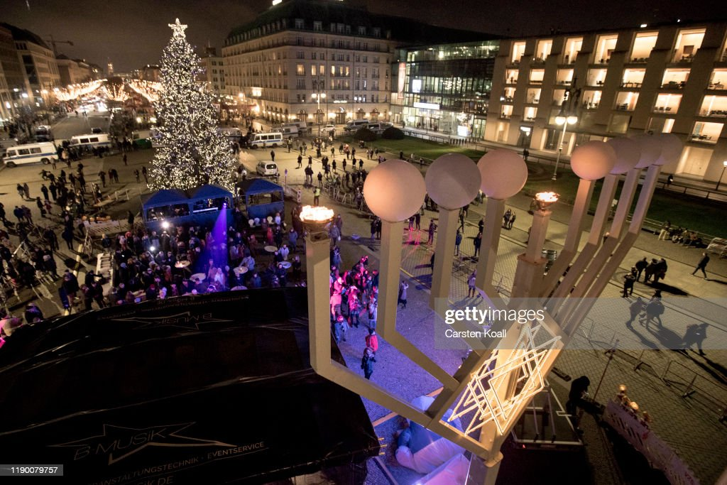 Hanukkah Menorah Lighting In Berlin : News Photo