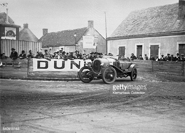 The Le Mans 24 Hours Le Mans May 2627 1923 The Chenard Walker of André Lagache and René Leonard at the Pontlieu turn They won overall/