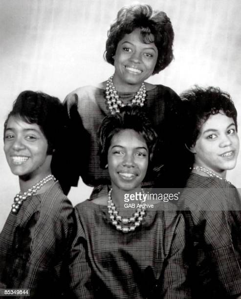 Photo of SUPREMES and PRIMETTES Florence Ballard Mary Wilson Diana Ross and Betty McGlown before they became the Supremes