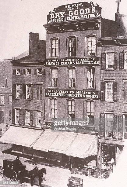 The first Macy's store on Sixth Avenue 'Ladies Mile' in New York City circa 1880
