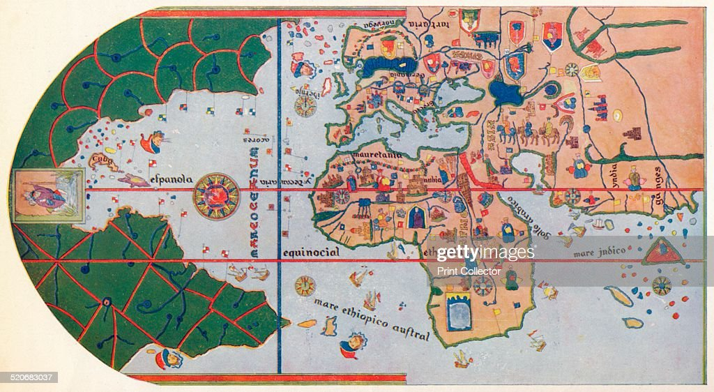 The first map to show america 1500 1912 pictures getty images the first map to show america 1500 1912 after the gumiabroncs Image collections