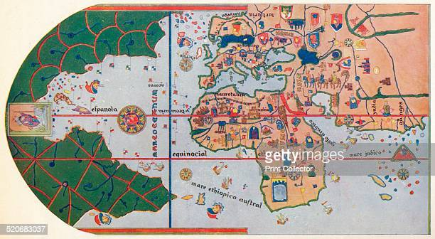 'The First map to Show America' 1500 After the map of Juan de la Cosa 1500 The map or chart is a mappa mundi painted on parchment and is currently...